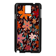 Orange Flowers  Samsung Galaxy Note 3 N9005 Case (black)