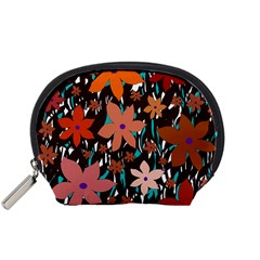 Orange flowers  Accessory Pouches (Small)