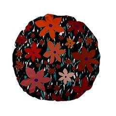 Orange flowers  Standard 15  Premium Flano Round Cushions