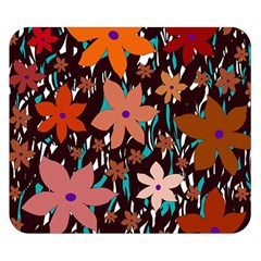 Orange flowers  Double Sided Flano Blanket (Small)