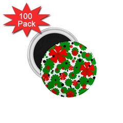 Red and green Christmas design  1.75  Magnets (100 pack)