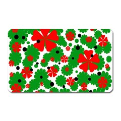 Red and green Christmas design  Magnet (Rectangular)