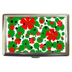 Red and green Christmas design  Cigarette Money Cases