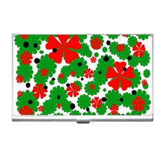 Red and green Christmas design  Business Card Holders