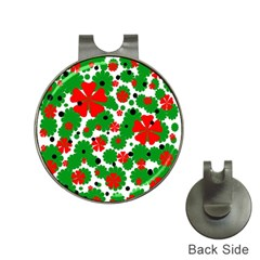 Red and green Christmas design  Hat Clips with Golf Markers