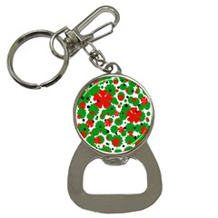 Red and green Christmas design  Bottle Opener Key Chains