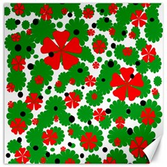 Red and green Christmas design  Canvas 12  x 12