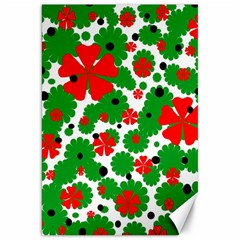 Red and green Christmas design  Canvas 20  x 30