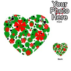 Red and green Christmas design  Playing Cards 54 (Heart)
