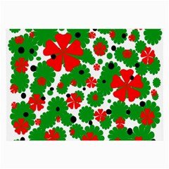 Red and green Christmas design  Large Glasses Cloth (2-Side)