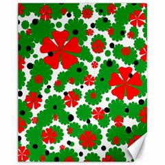 Red and green Christmas design  Canvas 11  x 14