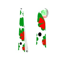 Red and green Christmas design  Neckties (Two Side)