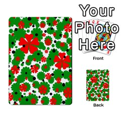 Red And Green Christmas Design  Multi Purpose Cards (rectangle)