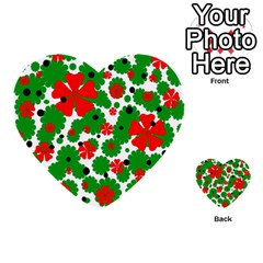 Red and green Christmas design  Multi-purpose Cards (Heart)