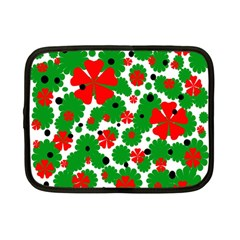 Red and green Christmas design  Netbook Case (Small)