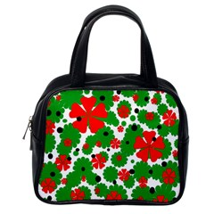 Red and green Christmas design  Classic Handbags (One Side)