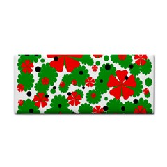 Red and green Christmas design  Hand Towel