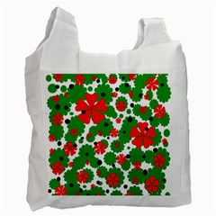 Red and green Christmas design  Recycle Bag (Two Side)