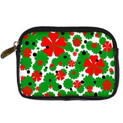 Red and green Christmas design  Digital Camera Cases