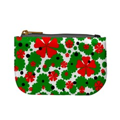 Red and green Christmas design  Mini Coin Purses
