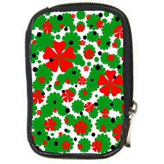 Red and green Christmas design  Compact Camera Cases