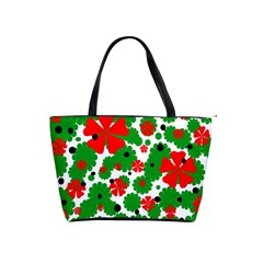 Red and green Christmas design  Shoulder Handbags