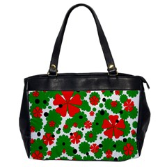 Red and green Christmas design  Office Handbags