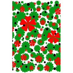 Red and green Christmas design  5.5  x 8.5  Notebooks