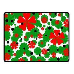 Red and green Christmas design  Fleece Blanket (Small)