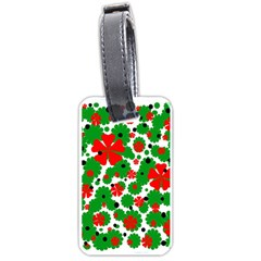 Red and green Christmas design  Luggage Tags (Two Sides)
