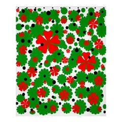 Red and green Christmas design  Shower Curtain 60  x 72  (Medium)
