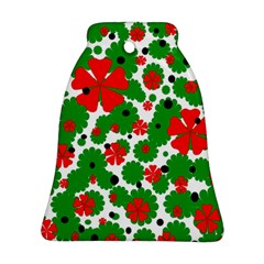 Red and green Christmas design  Bell Ornament (2 Sides)