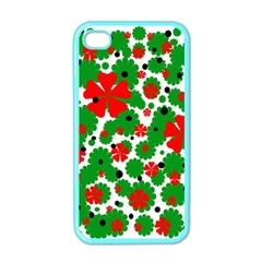 Red and green Christmas design  Apple iPhone 4 Case (Color)