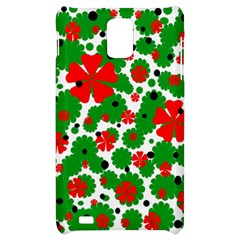 Red and green Christmas design  Samsung Infuse 4G Hardshell Case