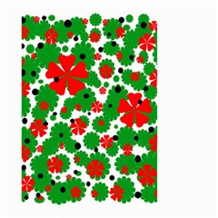 Red and green Christmas design  Small Garden Flag (Two Sides)