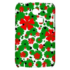 Red and green Christmas design  Samsung S3350 Hardshell Case