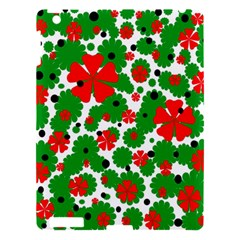 Red and green Christmas design  Apple iPad 3/4 Hardshell Case