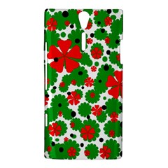 Red and green Christmas design  Sony Xperia S