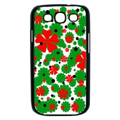 Red and green Christmas design  Samsung Galaxy S III Case (Black)