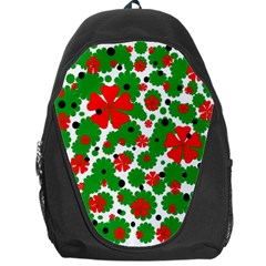 Red and green Christmas design  Backpack Bag
