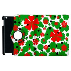 Red and green Christmas design  Apple iPad 3/4 Flip 360 Case
