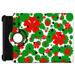 Red and green Christmas design  Kindle Fire HD Flip 360 Case