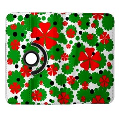 Red and green Christmas design  Samsung Galaxy Note II Flip 360 Case