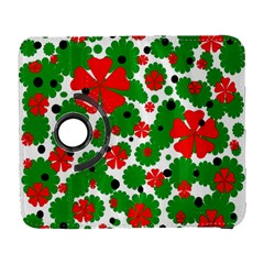 Red and green Christmas design  Samsung Galaxy S  III Flip 360 Case