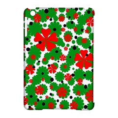 Red and green Christmas design  Apple iPad Mini Hardshell Case (Compatible with Smart Cover)