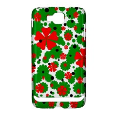 Red and green Christmas design  Samsung Ativ S i8750 Hardshell Case