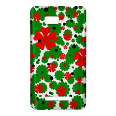 Red and green Christmas design  HTC One SU T528W Hardshell Case