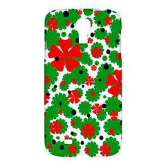 Red and green Christmas design  Samsung Galaxy S4 I9500/I9505 Hardshell Case