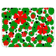 Red and green Christmas design  Samsung Galaxy Tab 7  P1000 Flip Case