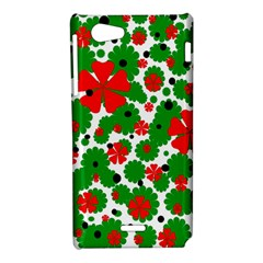 Red and green Christmas design  Sony Xperia J